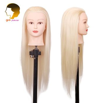 24 Inches Training Mannequin Head For Hairdressers With Natura To Practice Dolls Heads Hairdressing Dummy Head For Hairstyles