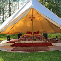 5M Cotton Canvas Bell Tent Waterproof with Stove Jacket