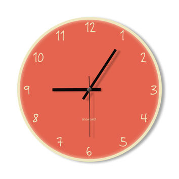 Wall Clock candy pink clock home decoration wall art modern simple clock bedroom living room office clock  clock