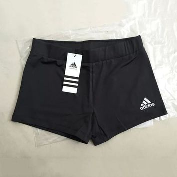 PEAPON Adidas Women Embroidery Leisure Sports Shorts
