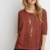 Textured Knit Dolman Top