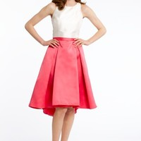 Satin Box Pleat Tank Dress