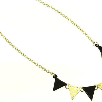 NECKLACE / LINK / TEXTURED METAL / EPOXY / 1/3 INCH DROP / 16 INCH LONG / NICKEL AND LEAD COMPLIANT