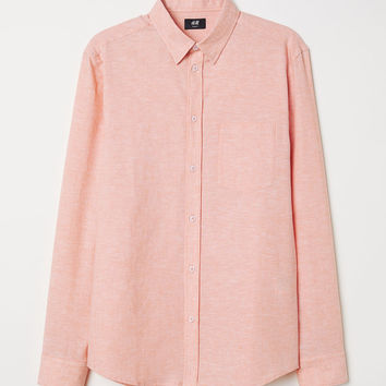 H&M Slim Fit Linen-blend Shirt $29.99