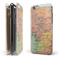 The Zoomed In Africa Map iPhone 6/6s or 6/6s Plus 2-Piece Hybrid INK-Fuzed Case