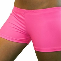 Bright Neon Pink 2.5 inch inseam Spandex Compression Short