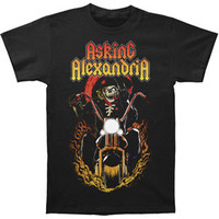 Asking Alexandria Men's  Ride For Death Slim Fit T-shirt Black Rockabilia