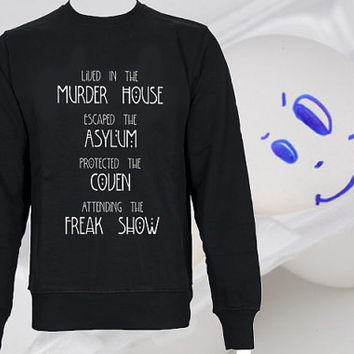 American Horror Story Four Seasons weater Black and White Sweatshirt Crewneck Men or Women Unisex Size