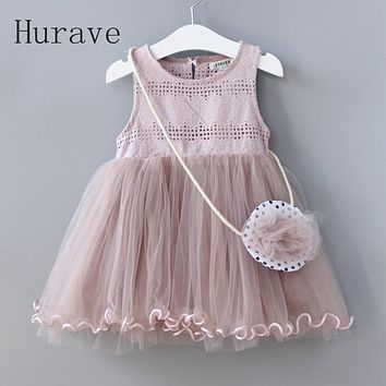 Fashion kids dress children clothes for toddler lace with summer clothing
