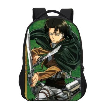 Cool Attack on Titan VEEVANV Boys Cartoon Laptop Shoulder Bag Fashion  Girls School Backpacks Women 3D Prints Mochila Children Bookbag AT_90_11