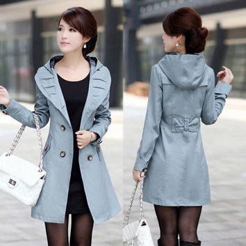 HOT Sexy Women Slim Fit Double Breasted Ladies&#39 Coat Windcoat Outerwear 3 Color # L034221 = 1930332228