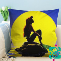 Ariel The Little Mermaid Zippered Pillow Case, Cushion Case, Pillow case