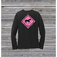 Horse Crossing Series Ladies Long Sleeve Tee