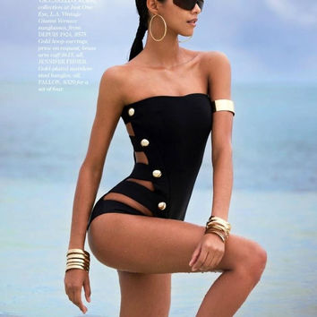 New! summer Swimwear Sexy One Piece Biquinis  Swimsuit For Women Beach wear Secret Brand Bathing Suits -03115