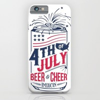 Typography Beer - Fourth of July iPhone & iPod Case by Thyme