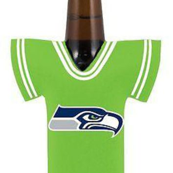 NFL Seattle Seahawks Bottle Jersey Koozie Coozie Drink Holder Football
