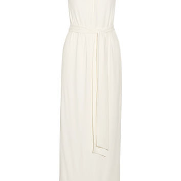 Halston Heritage - Twist-front stretch-cady gown