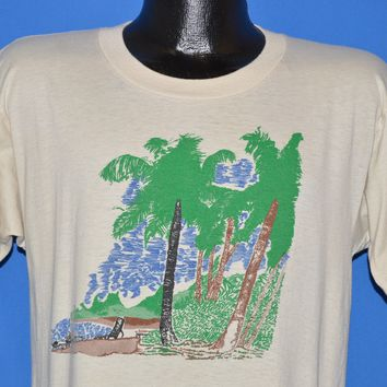 80s Hyatt Dorado Beach Palm Tree Vista t-shirt Medium