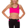 Never Giving Up Sports Bra in Pink