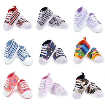 Choice of Canvas Style Soft Infant Baby Shoes