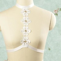 White Flowers Harness