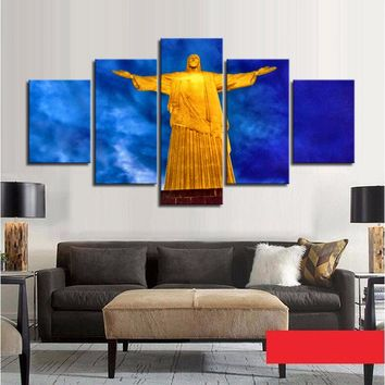 HD Printed Wall Canvas Painting Jesus Statue Decorative Picture Frames