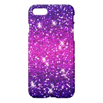 Glitters Sparkles Purple Pink Texture iPhone 7 Case