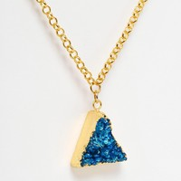 Only Child Crystal Pyramid Pendant Necklace