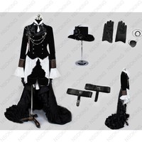 Anime Kuroshitsuji Black Butler Ciel Phantomhive Cosplay Costume Customized