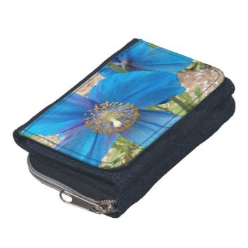 Blue Poppies Floral Wallet