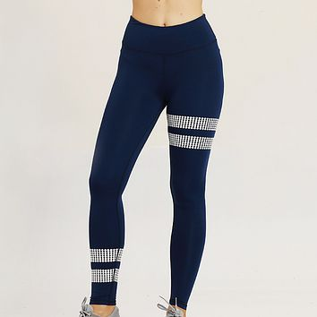 New fashion solid color yoga fitness sports pants women Blue