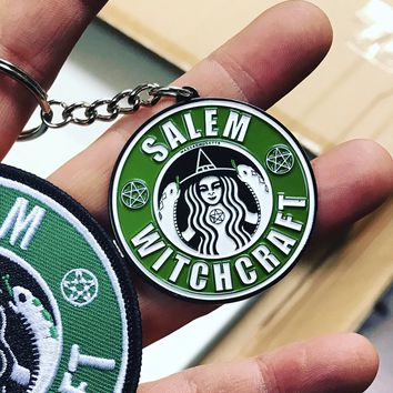 Salem Witchcraft Keychain