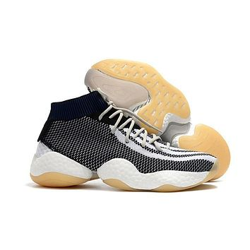 Adidas Crazy BYW Black White Gray Boost Basketball Shoes