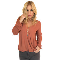Always On The Run Blouse In Rust