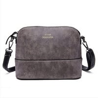 new fashion women's messenger bag scrub shell bag Nubuck Leather small bags over the shoulder womens purses and handbags