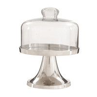 Small Silver Cake Stand With Dome