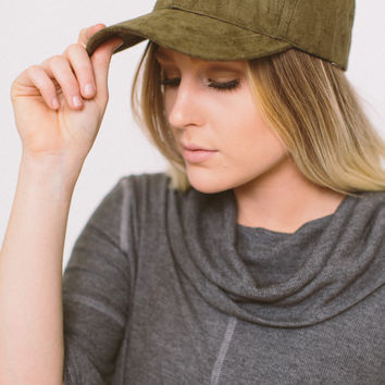 Suede It Ain't So Hat - Olive
