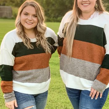 Catching the Chills Color Block Sweater