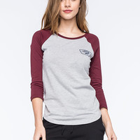 Vans Authentic Womens Raglan Tee Heather Grey  In Sizes