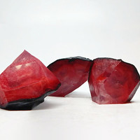 Ruby Geode Shaped Soap Set in Japanese Cherry Blossom