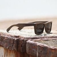 Handmade Wood Sunglasses | Brown | Wayfarer Wooden Sunglasses | Mens Sunglasses | Womens Sunglasses | Polarised | Square