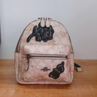 Coach pink leather backpack bag