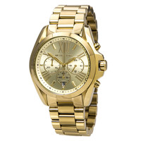 Michael Kors MK5605 Women's Bradshaw Gold Dial Gold Plated Chronograph Watch