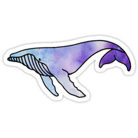 'Whale' Sticker by Carson Satchwell