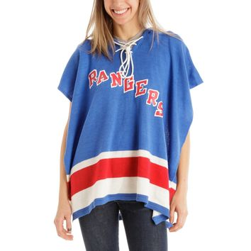 New York Rangers NHL Stylish Knitted Cowl Hood Poncho (One Size Fits Most) xyz