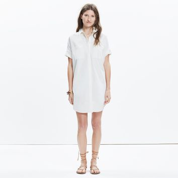 Courier Shirtdress in Pure White : shopmadewell AllProducts | Madewell