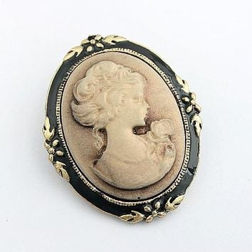 Vintage Jewelry Cameo Brooch Fashion Queen head Brooch Pins For Women Wedding Costume Accesories 5X014