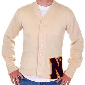 Vintage Mens Letter Sweater N Campus 1950s Wool Small 36