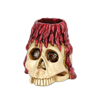 Skull & Candle Tea Light Holder 6 Oz- Pack of 6