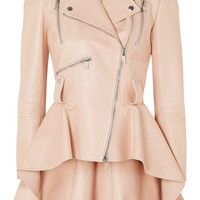 Alexander McQueen - Leather peplum biker jacket